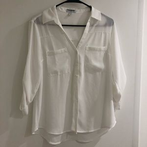 Express Portofino Shirt, Slim Fit, Medium Petite